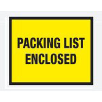 "Box Partners 7"" x 5 1/2"" Yellow ""Packing List Enclosed"" Full Face"