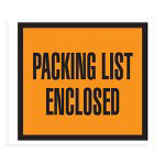 "Box Partners 4 1/2"" x 5 1/2"" Orange ""Packing List Enclosed"" Full Face"