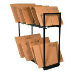 Box Partners Carton Rack, Two Tier With 8 Dividers
