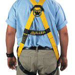 "Box Partners Fall Protection Harness, Universal Waist 36"" to 52"" Waist Size"
