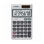 Casio SL-300SV 8 Digit Handheld Solar Powered Calculator, Silver
