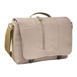 Caselogic MSGR BAG W/ LAPTOP BAY CREAM NYLON 13.75X11X1.75