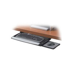 Fellowes Deluxe Keyboard Drawer w/Soft Touch Wrist Rest keyboard platform with mouse tray