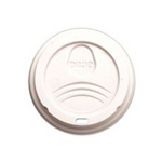 Dixie White Plastic Dome Lids for 12/16 oz. Paper Cups