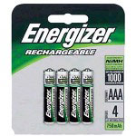 Energizer Nh 12bp-4 Battery AAa Nimh X 4
