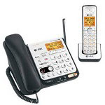 Vtech CL84109 - cordless phone base station w/ corded handset, answering system & call waiting caller ID