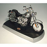 Telemania Harley Fat Boy Telephone, Silver