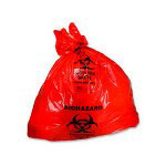 Essex Plastics HRS4046 Red Bio Hazard Low Density Can Liners, 40-45 Gallons