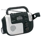 Jenson Merchandising Portable Self-Powered AM/FM/NOAA Weather Band Radio with Built-in Flashlight