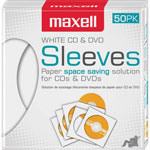 Maxell CD Sleeve 50Pk White