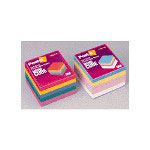 "Post-it® Post-it Post-it Note Cube, 390 Sheets, 3"" x 3"", Bold Brights"