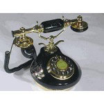 Golden Eagle Porcelain Phone, Black