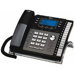 RCA 25425RE1, 4-Line Corded Expandable Speakerphone With Digital Answering System, Black/Silver