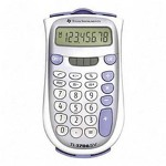 Texas Instruments  TI-1706SV 8-Digit Handheld Pocket Calculator with Dual Power