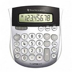 Texas Instruments  TI-1795SV 8-Digit Handheld Calculator with Tax Key, Solar Power