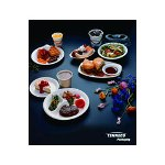 "Pactiv Placesetter 10.25"" Impact White 3 compartment Plastic Dinnerware"