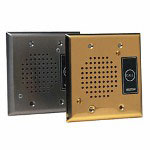 Valcom Talkback Doorplate Speaker, Stainless Steel