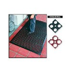 "Ludlow Composites 3' X 5' X 1/2"" Black Kitchen Safewalk Mat"