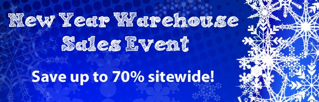 New Year Warehouse Sales Event! Save up to 70% off sitewide.