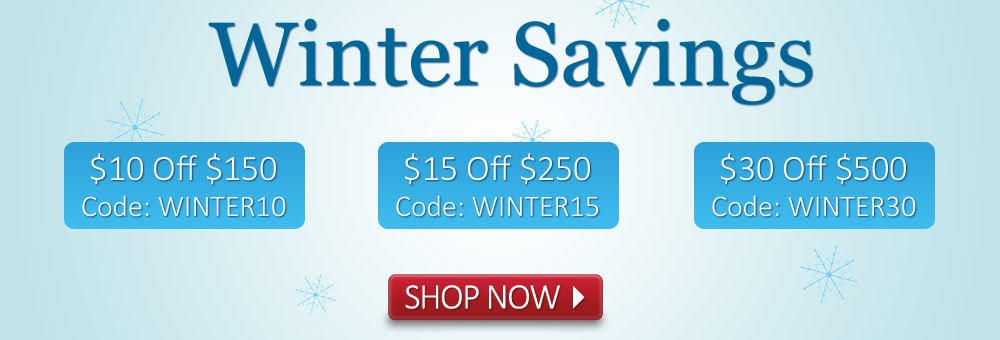 Get $10, $15, up to $30 off with Winter Savings Deals