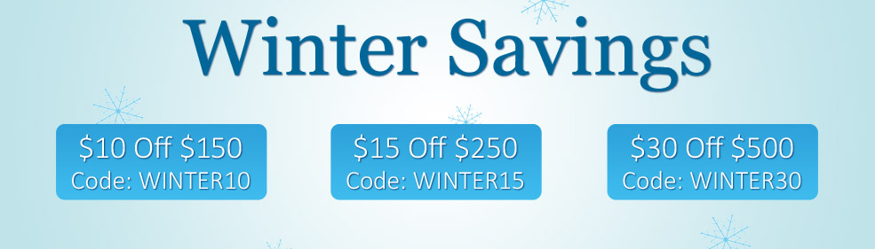 Save up to $30 with Winter Savings Deals.