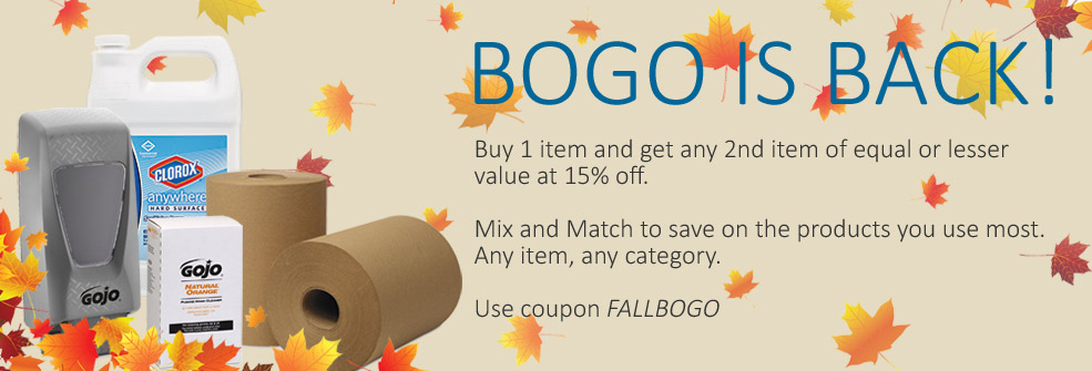 BOGO IS BACK | Buy 1 item and get any 2nd item of equal or lesser value at 15% off.