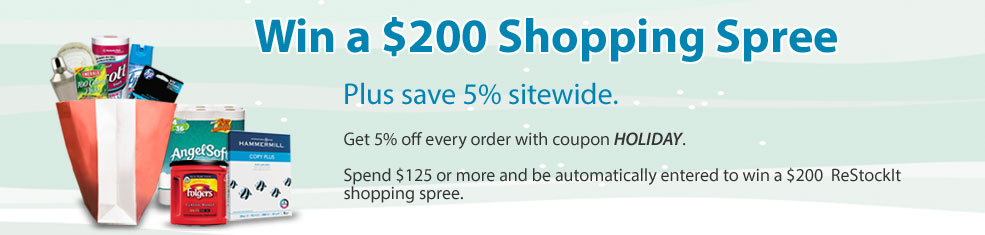 Win a  $200 Shoppin Spree plus save 5% sitewide!
