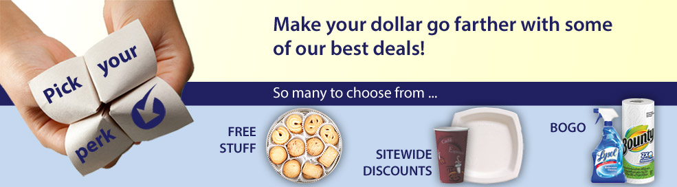 Make your dollar go farther during our Pick Your Perk Event!