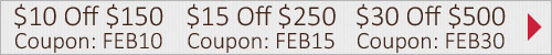 February Savings | Get up to $30 off!
