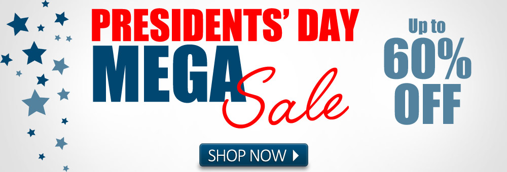 Get up to 60% off sitewide during the Presidents' Day MEGA Sale!