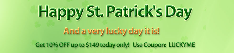 ReStockIt.com Feeling Lucky Saint Patrick's Day Offer.