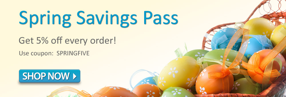 Spring Savings Pass | Get 5% off every order!