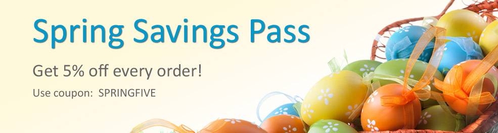 Spring Savings Pass | Get 5% off every order.