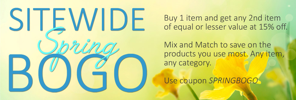 Buy 1 item and get any 2nd item of equal or lesser value at 15% off.