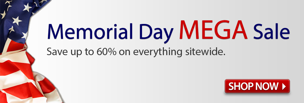 Save up to 60% during the Memorial Day Mega Sale!