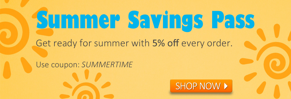 Get 5% off when you use your Summer Savings Pass