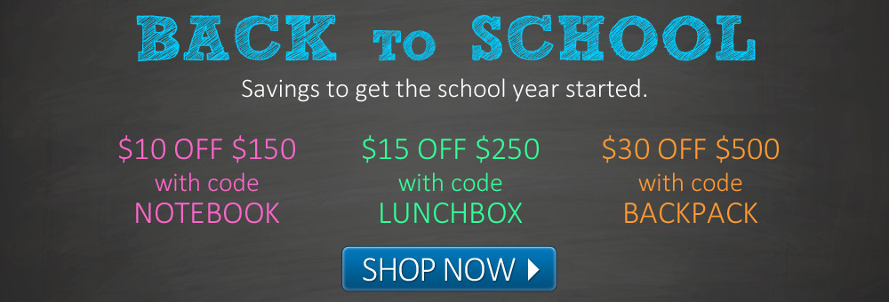 Back to School savings to get the year started.