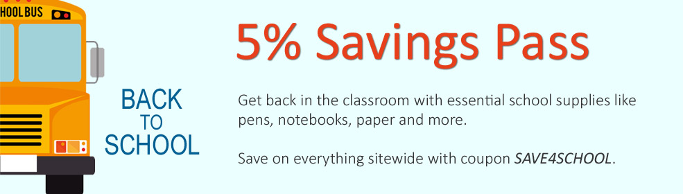 Back to School Savings Pass | Get 5% Off with coupon SAVE4SCHOOL