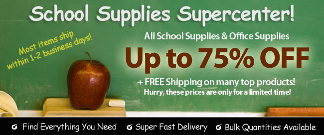 Up to 65% Off School and Office Supplies
