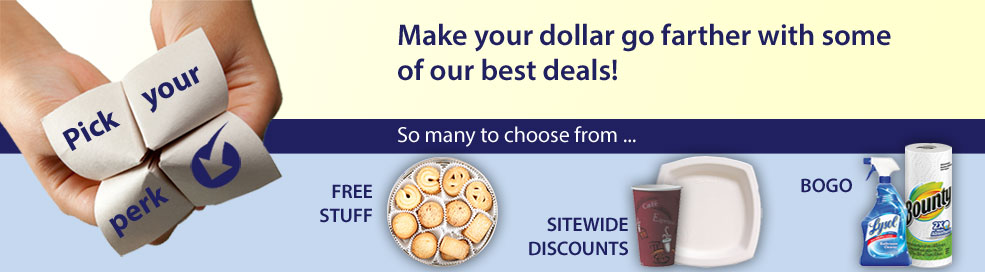 Choose from some of our best offers during the Pick Your Perk Event!