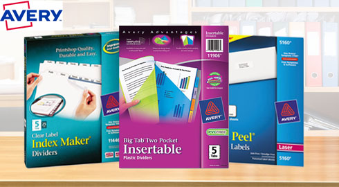 Explore the endless possibilities with Avery office products including office labels, index dividers, ring binders and more!