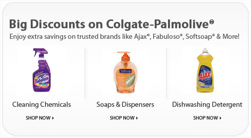 Big Discounts on Colgate-Palmolive® brands like Ajax®, Fabuloso®, Softsoap® & More!