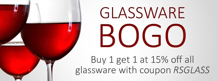 GLASSWARE BOGO | Buy 1 get 1 at 15% Off with coupon RSGLASS