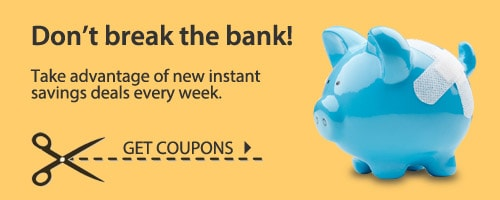 Take advantage of new instant savings deals every week.