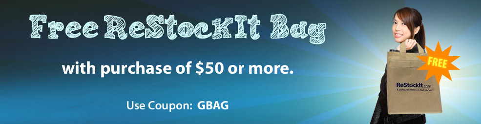 Free ReStockIt bag with $50 purchase for Google Shoppers