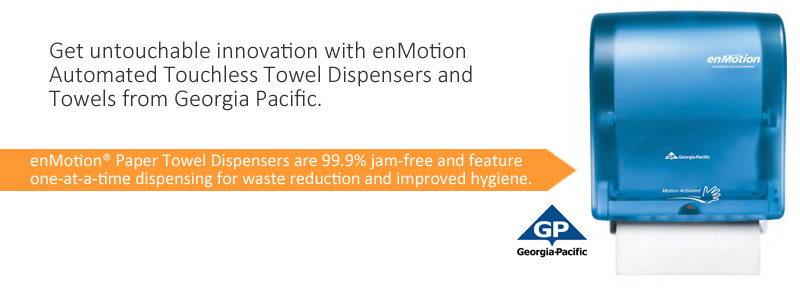 Get untouchable innovation with enMotion Automated Touchless Towel Dispensers and Towels from Georgia Pacific.