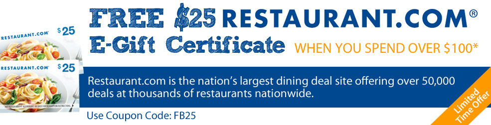 Restaurant.com Offer for facebook customers