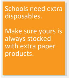 Make sure your business is always stocked with extra paper products.