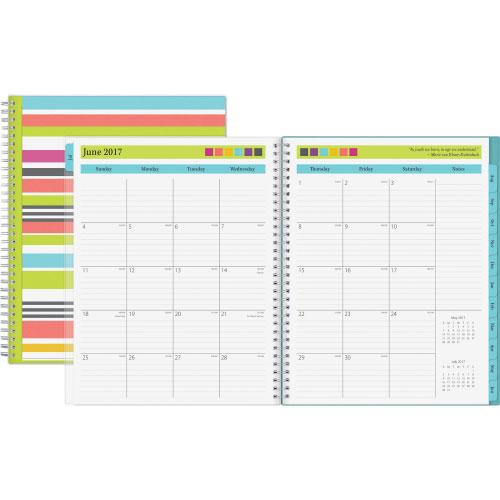 "Blue Sky Teacher Weekly/Monthly Planner, 8-1/2"""" x 11"""", 12 Months, -  100329"