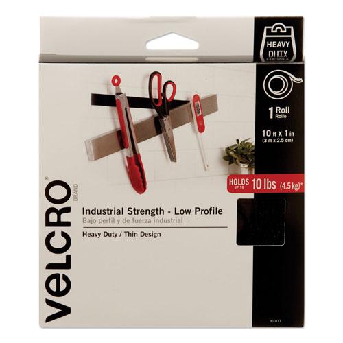 """Velcro Low-Profile Industrial-Strength Heavy-Duty Fasteners, 1"""""""" x 10 -  91100"""